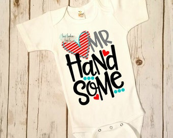 FREE SHIPPING***Mr. Handsome Valentines Day Shirt,Valentines Shirt,Boys Valentines Shirt,Boys Valentines Shirt,Stupid Cupid,Steal Your Girl
