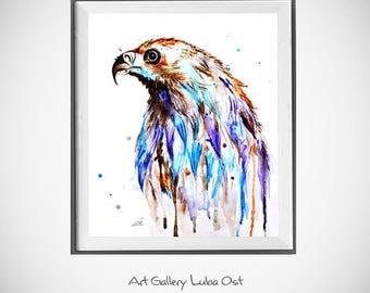 Eagle watercolor painting print, On Sale, Free Shipping, Eagle art, Bird Art Print, Eagle painting, Wall art, Eagle watercolor art