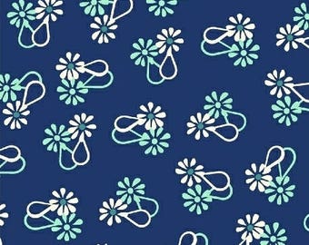 Loopy floral on navy, Hello Jane, Allison Harris of Cluck Cluck Sew for Windham Fabrics 42917-5