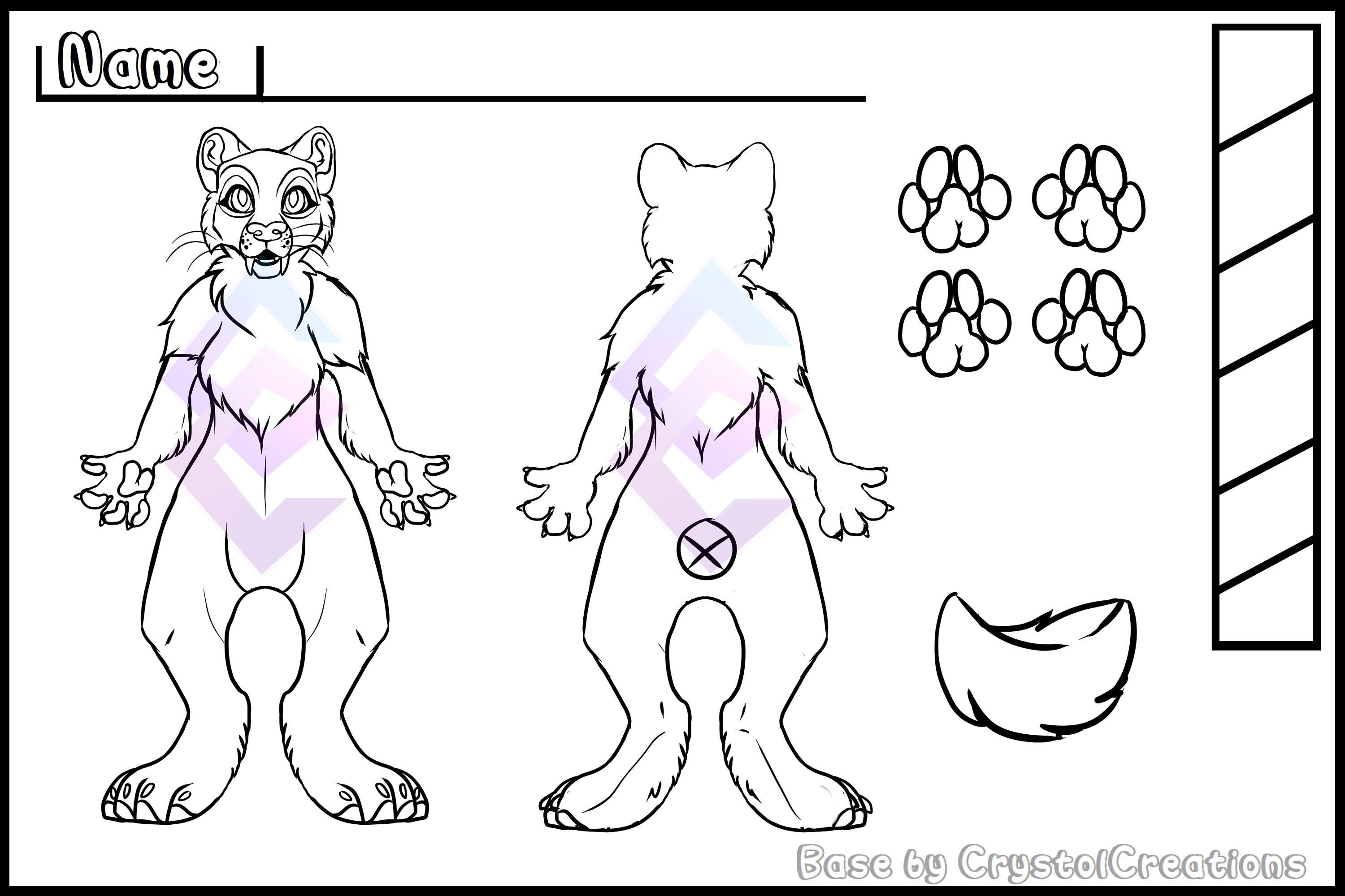 Sabre Cat Reference Sheet Base Big Cat Base Furry