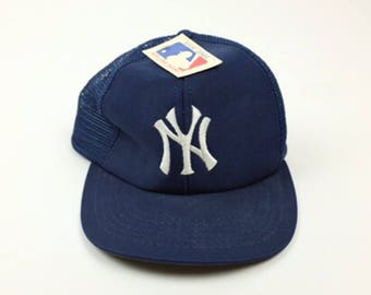 half off d6811 731ac ... sweden brand new vintage 80s new york yankees mlb baseball trucker snap  back hat 90s yankee