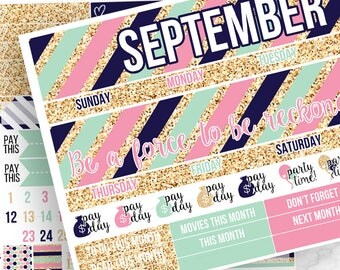 POPco Signature Collection Monthly Kit (CHOOSE YOUR MONTH!)- Planner Stickers