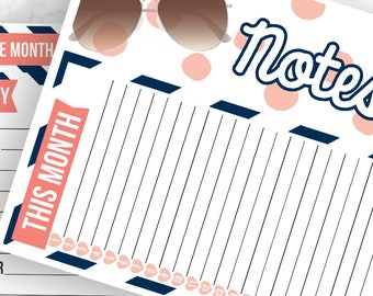 Sophia Notes Pages Kit - Planner Stickers