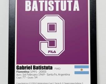 Argentina Legends poster Batistuta Messi