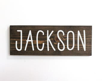 Personalized Baby Wood Sign, Name Sign for Nursery Boy, Baby Name Sign Boy, Tribal Boy Nursery, Farmhouse Nursery Sign