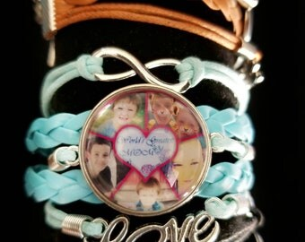 Mothers day photo collage bracelet