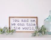 You and Me | Take The Wor...