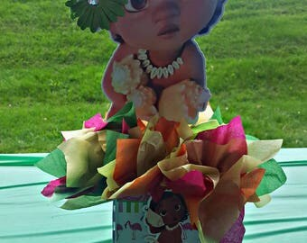 Moana Centerpiece | Baby Moana Centerpiece | Baby Moana Birthday