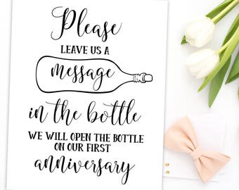 Wedding Guestbook Message in a Bottle Guest Book Message in Bottle Sign Wedding Guestbook Sign Message in a Bottle Wedding Beach idwm48