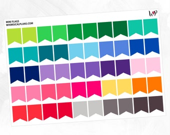Mini Flags | Spring Multicolor | Matte Glossy Planner Stickers