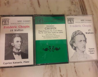 3 Frederic Chopin Cassettes in Great Condition Musical Heritage Society