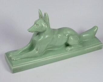 Large Art Deco Ceramic Fox