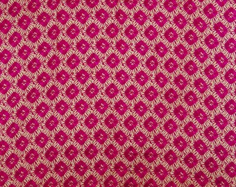 """Beige Color Craft Fabric, Floral Print, Apparel Fabric, Sewing Decorative, 45"""" Inch Cotton Fabric By The Yard ZBC8378A"""