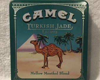 22%OFF Camel Turkish Jade Lights Cigarette Tin - Ca 1970's
