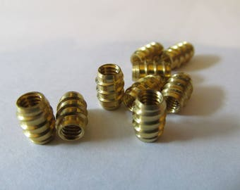 Brass Knob Inserts  #8/32