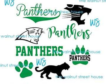 SVG - Panther SvG. JPG included. Digitally downloadable file only Mascot Panther Logo TEam Spirit Logo, Panther Clipart