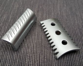 Windrose Open Comb/Slant safety razor head only! Satin/Polished Made in UK!