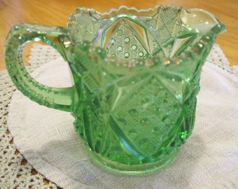 EAPG Emerald Green Creamer - Item #1607