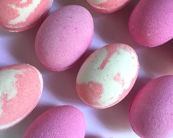 Easter Egg Bath Bomb | colourful bath bombs | easter gift | Charlotte's Lab | made in Australia | bath bombs for kids | gift for her