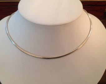 THARPE Omega Sterling Silver Chain...4mm. X 17-1/2 inches in length...BEAUTIFUL!