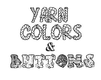 Yarn Colors & Button Options