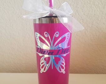 Holographic Butterfly with personalized glitter name