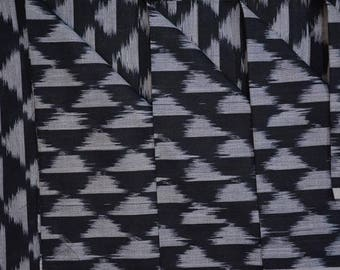 Black & White Ikat Fabric By The Yard