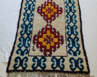 Vintage Moroccan rug,  Berber rug handmade,  7' x 3'6