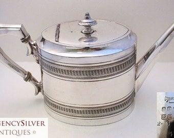 Antique (c1880) Old Sheffield Silver Plate EPBM. VICTORIAN English Tea pot. Large teapot. James Dixon & Sons. George III Georgian Style