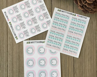 Functional Birth Control Planner Stickers