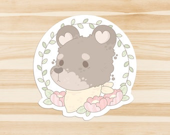 Mr Bear Forest Friends Sticker