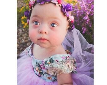 Baby flower crown ,flower crown ,flower headband