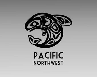 Pacific Northwest Decal - Whale