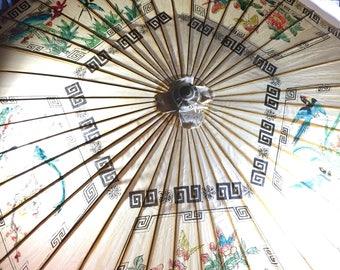 Oriental Birds and Butterflies Umbrella