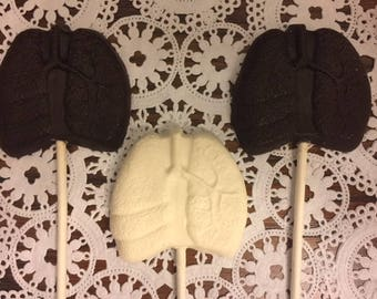 LUNGS CHOCOLATE Lollipop (12qty)Lung Specialist/Lung Doctor/Transplant/Pulmonologist/Pulmonary Medicine/Chest/Respiratory Organ/Doctor Gift