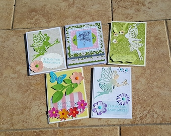 Forest Fairy Cards * Cards with Fairy * Handmade Greeting Cards * Thank You Cards Set of 5