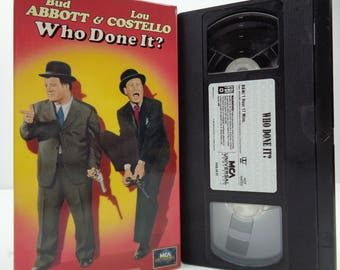 abbott and costello Who Done It VHS Tape