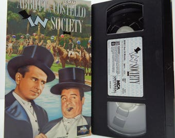 abbott and costello In Society VHS Tape