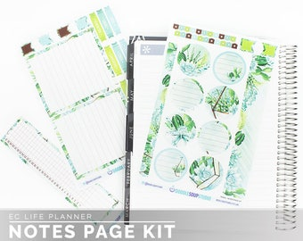 Terra Notes Page Kit for Erin Condren Life Planner (38 matte stickers)