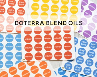 Doterra Inspired Essential Oil Label Stickers - BLENDS