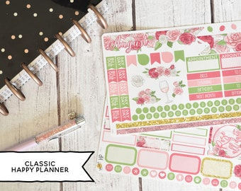 Monthly Planner Stickers Kit Made To Fit The Classic Happy Planner | You pick the month!  193L1-2