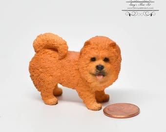 1:12 Dollhouse Miniature Chow Chow/Miniature Dog/ Miniature Dog/Mini Pet AZ A3827