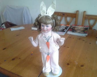 "The Hamilton Collection ""Mandy"" Easter Doll 1993 Hand Made Porcelain Doll"