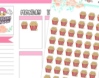 Icon Popcorn Stickers (07)