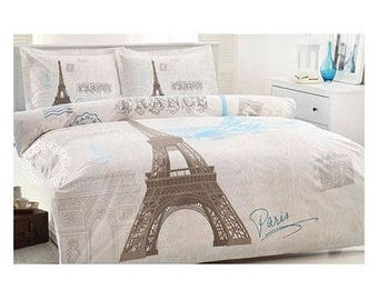 Paris Eiffel Tower Twin Bedding Duvet Cover Quilt Cover