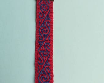 """Labyrinth"" craft loom woven bracelet"
