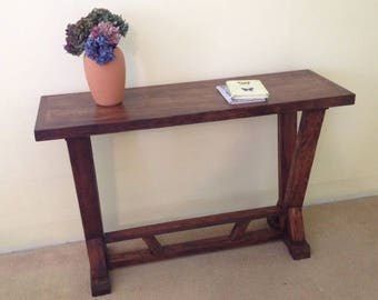 Rustic Solid Wood Console |Handmade Sofa Table | Solid Wood Farmhouse Table | Sofa Table | Entryway Table | Buffet Table | Rustic Sofa Table