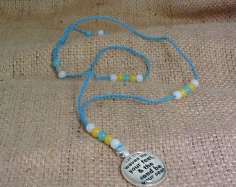 Beach Gypsy Macrame Necklace