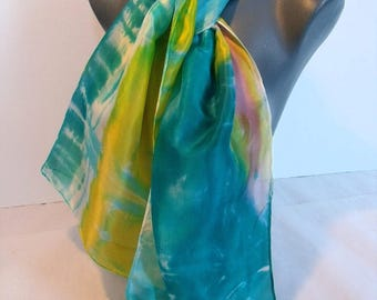 """Algarve"" hand painted silk scarf (29)"