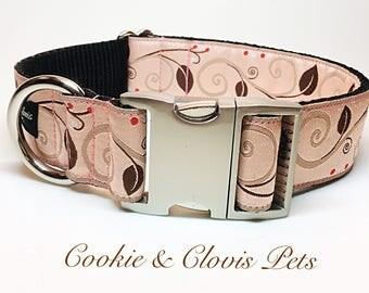 Leaves & Vines Dog Collar 1.5 inch